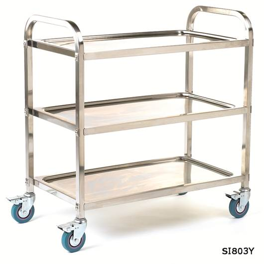 Picture of Stainless Steel Braked Shelf Trolleys