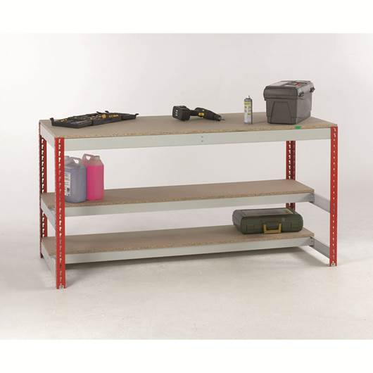 Picture of Economy Bench with two half depth lower shelves