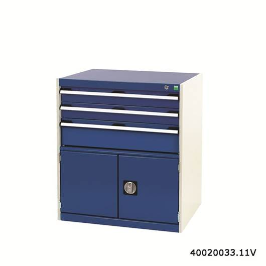 Picture of Drawer Cabinet with 3 Drawers & Cupboard