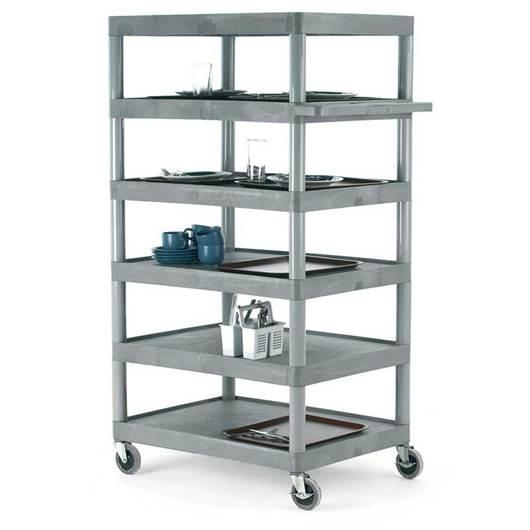 Picture of Large Grey 6 Shelf Trolley
